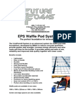 Future Foams EPS Waffle Pod Manual 2015