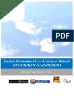 Euskal Ekonomia Demokraziaren Bidetik. NEGURIREN GAINBEHERA