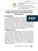 A Three Phase Hybrid Cascaded Modular Multilevel Inverter for Renewable Energy Environment