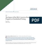 The Impact of the SRA Corrective Reading Program on Standardized