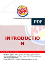 Burger King Customer Expectations