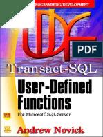 Transact-SQL User-Defined Functions for MSSQL Server
