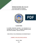 Modelo Estructura de Plan de Tesis