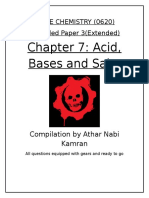 Chapter 7 - Acids Bases and Salts
