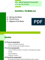 Geog 001 Chapter 7 (North Africa - Middle East)