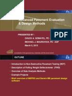 Advanced Pavement Evaluation & Design Methods