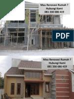 Renovasi Rumah Mungil Pasuruan 081 330 686 419