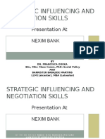 3 Strategic Influencing and Negotiation Skills 2015