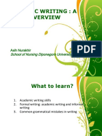 Academic Writing Concept 2013
