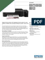 Epson L130 A4 Single Function Colour Printer Datasheet