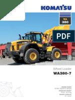 WA380 7 Brochure