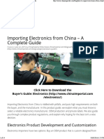 China Electronics Certifications for Import