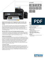 Epson L565 A4 Colour Wireless All-in-One Ink Tank System Network Printer Datasheet
