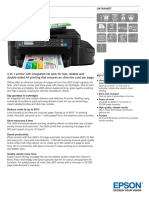 Epson L655 A4 Wireless All-in-one Colour Inkjet Tank System Printer Datasheet