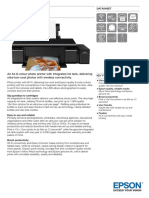 Epson L805 A4 Colour Single Function Ink Tank System Photo Printer Datasheet