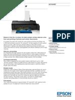 Epson L1800 A3+ Colour MultiFunction Ink Tank System Printer datasheet