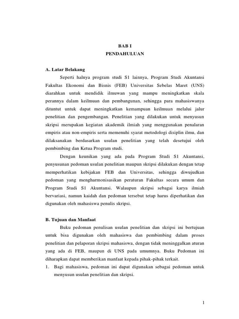 Review Pedoman Skripsi S1 Akuntansi Per 5 Oktober 2015 Pdf