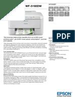 Epson WorkForce Pro WF-5190DW A4 Colour Inkjet Printer datasheet