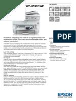 Epson WorkForce Pro WF-8590DWF Multifunction Inkjet Printer Datasheet