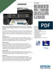 Epson WorkForce WF-3620DWF Multifunction Business Colour Inkjet Printer datasheet