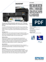 Epson WorkForce WF-3620DWF Multifunction Business Colour Inkjet Printer datasheet