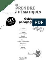 Guide Péda j'Apprends Les Maths Ce1