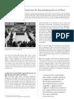 Balance del proceso de descentralización en el Perú