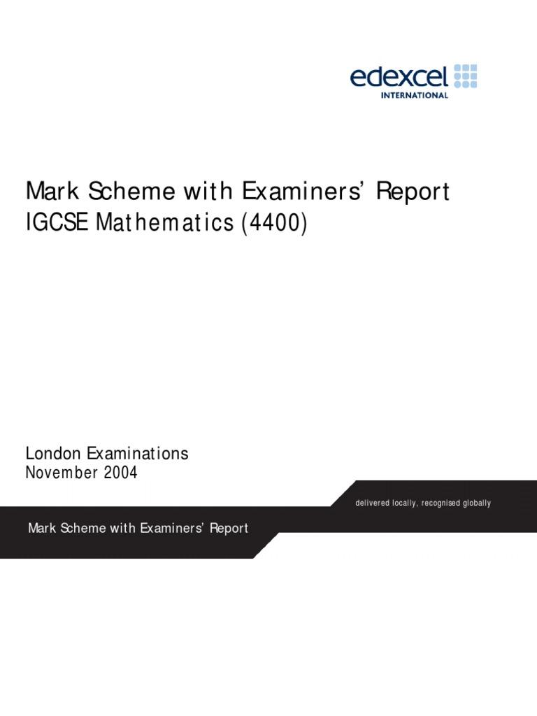 mark-scheme-and-examiners-report | Fraction (Mathematics ...
