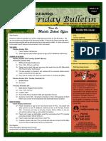 MS Parent Bulletin (Week of October 10 to 14)