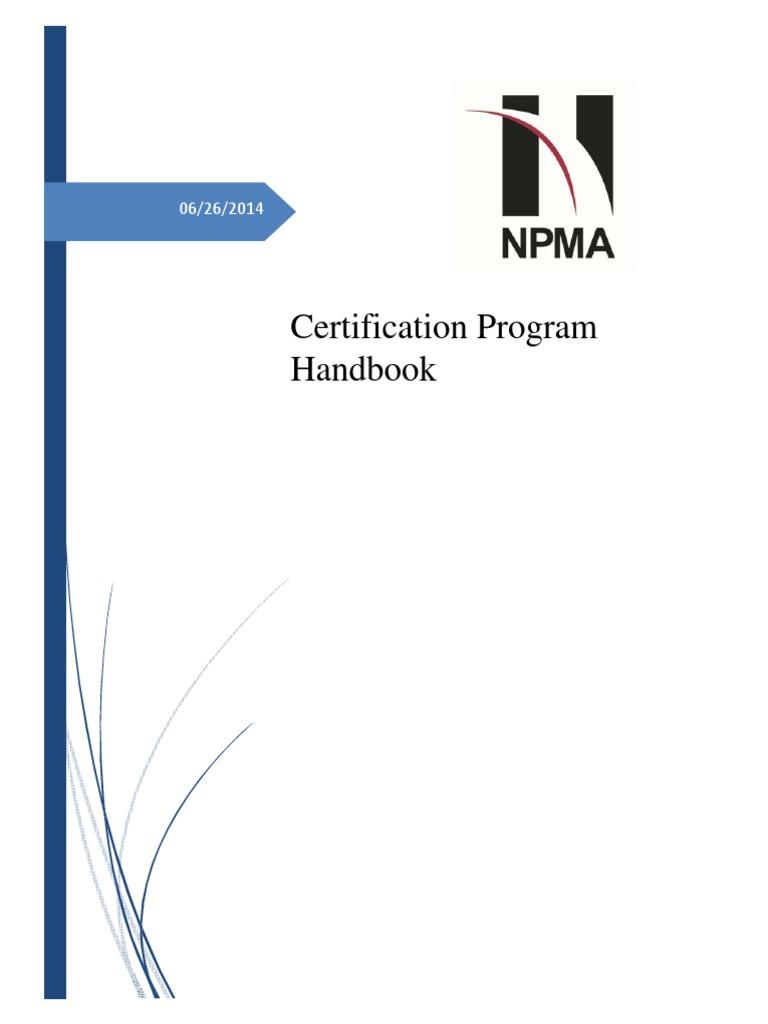 NPMA Certification Handbook | Professional Certification | Test