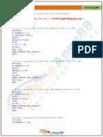 Oracle PLSQL Programs