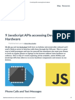 9 JavaScript APIs Accessing Device Hardware