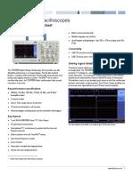 TBS1000B Oscilloscope Datasheet