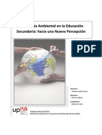 conciencia ambiental en La educacion secundaria