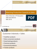 How to Match Production Capacity to Your Sales