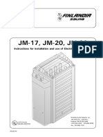 Finlandia Electric Sauna Heater Jm 17 Users Manual 551251