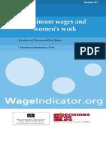 DFL WageIndicator Women and Minimum Wage Report v2 2011