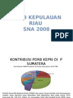 Pdrb Kepulauan Riau Sna 2008