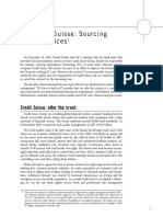 Credit Suisse - Sourcing IT Services