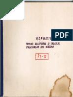 P2-75 Normativ Privind Alcatuirea Calculul Si Executarea Structurilor Din Zidarie