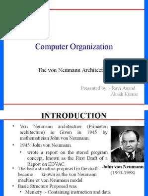Von Neumann Architecture Instruction Set Computer Data Storage