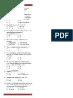 Easy Algebra Quiz