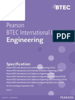 Pearson BTEC International Level 2 Qualifications in Engineering Updated