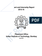 IIT Bombay Placement Report 2015-16