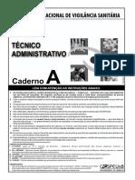 Cespe 2007 Anvisa Tecnico Administrativo Prova