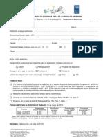 Formulario Inscripción VIII Jornadas de Geografía Física de la República Argentina
