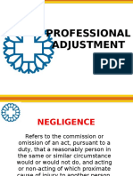 6 - Professional Adjustment