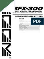 RFX-300 Bedienungsanleitung (German)
