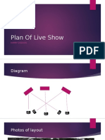 plan of live show