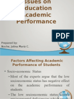 Isues on Academic Performance